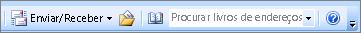 Caixa de livro de endereços do endereço de pesquisa do Outlook 2007