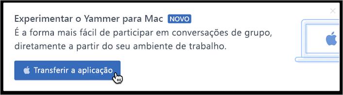 Mensagens no produto para Mac