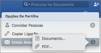 Selecione o formato do documento que irá enviar, documento do Word ou PDF.