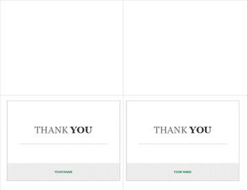 Mensagem de agradecimento imprimível para entrevistas de emprego