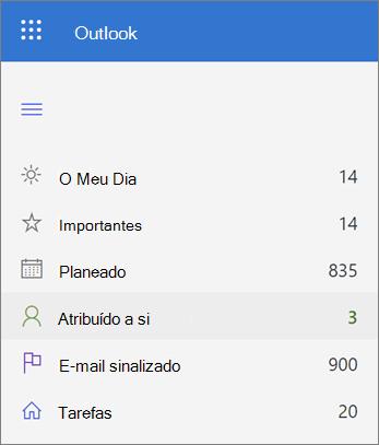 Screenshot de Atribuído à sua lista na Microsoft To Do