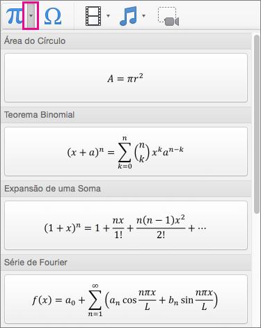 Equações incorporadas
