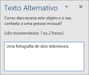 Um exemplo de um pobre texto alt no Word for Windows.