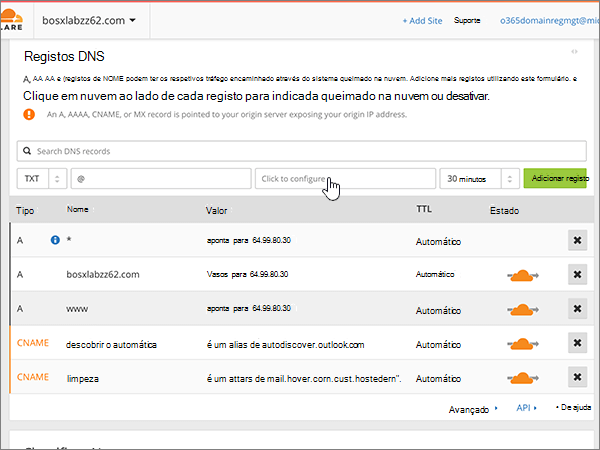 how to add a dns record in cloudflare hostpapa