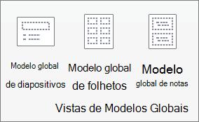 No separador Ver, clique em Modelo Global de Diapositivos.