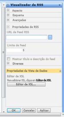 Painel de ferramentas Visualizador de RSS