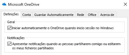 Para desativar todas as notificações dos ficheiros OneDrive partilhados, entre nas definições da sua aplicação OneDrive e desligue-as.
