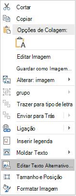 Word Win32 Edit Alt Text para imagens