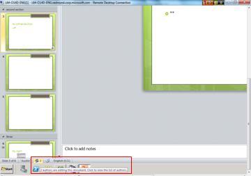 notificação a informar que outros utilizadores estão a editar a sua apresentação