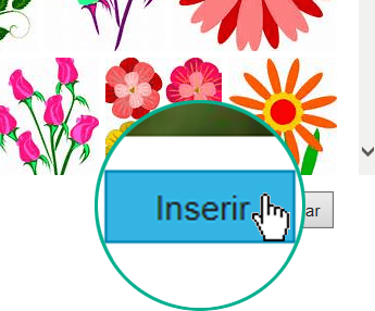 Selecione o botão Inserir na parte inferior direita da caixa de diálogo