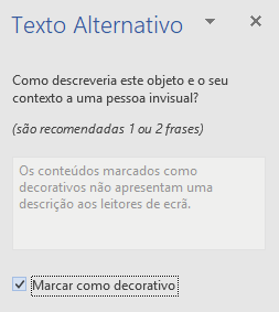Painel de texto do Word Win32 alternativo elementos decorativos