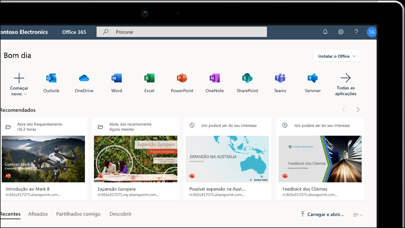 Formação sobre o Office na Web
