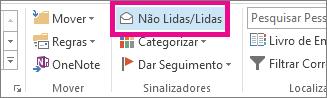 No separador Base, clique em Não Lidas/Lidas.