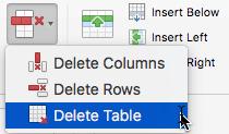 O comando da Coluna delete