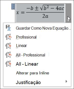 Equação todos os Linear