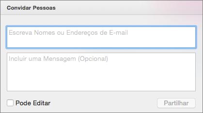 PPT para Mac: Partilhar Convite