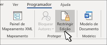 Restringir o botão de edição