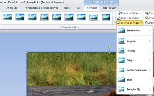 Aplicar efeitos especiais a um vídeo