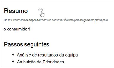 Exemplo de ligação de âncora de página