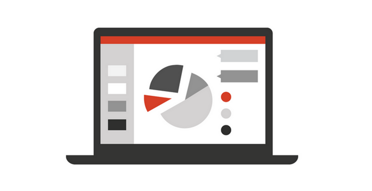 ilustração de um monitor de computador com um gráfico nele