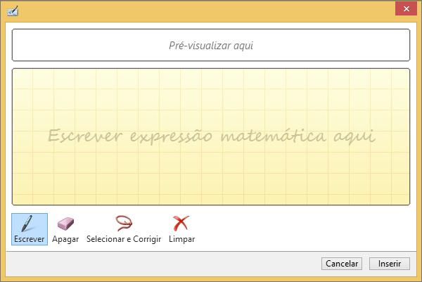Apresenta o painel de equação a tinta digital no PowerPoint