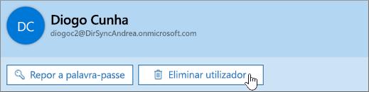 Eliminar um utilizador