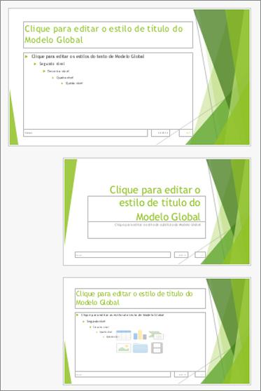 Modelo global de diapositivos com dois esquemas de diapositivo