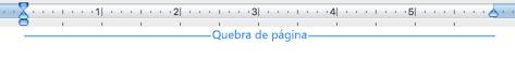 Uma quebra de página numa página em branco