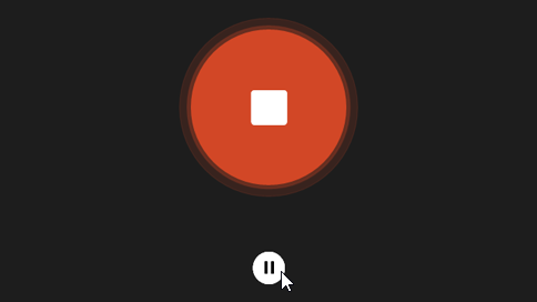 Botão de pausa