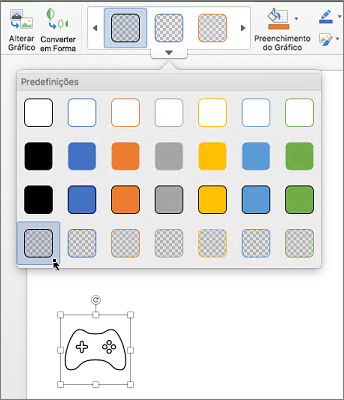 Edição de um estilo gráfico de um ícone