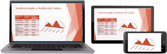 Iniciar uma reunião online com o PowerPoint