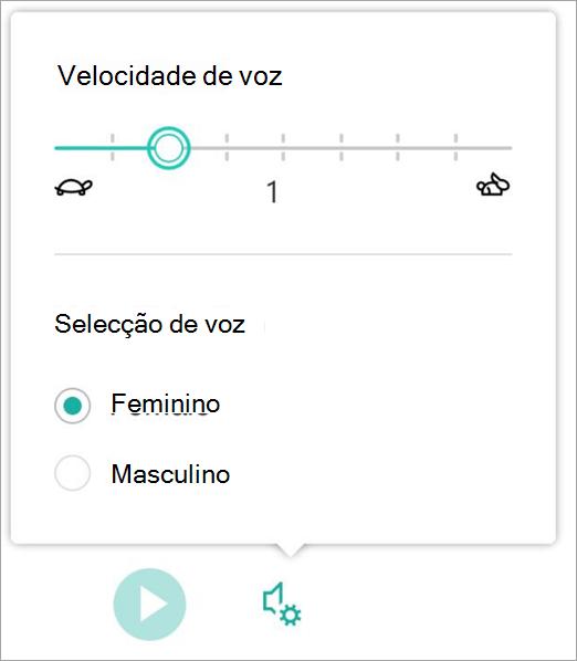 Género e velocidade de voz do leitor e apelativa