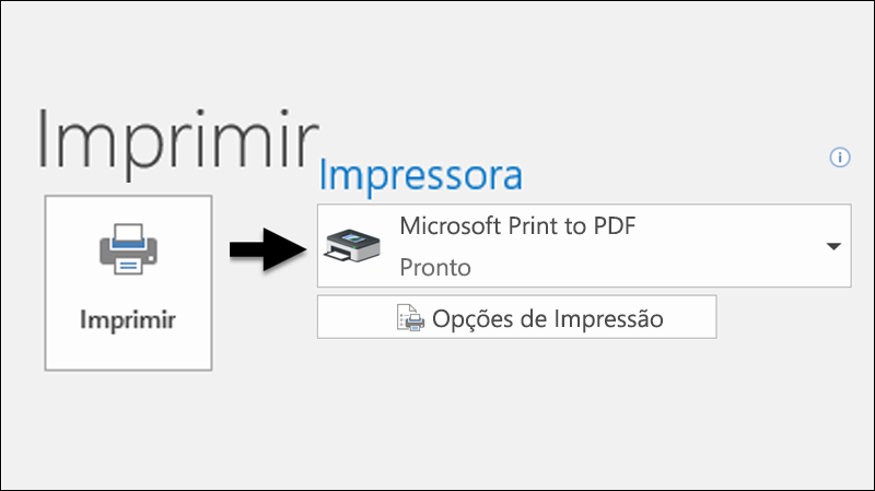 Utilizar o comando Imprimir para imprimir um e-mail como um ficheiro PDF.