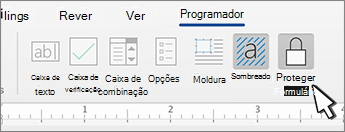 Proteja o botão de formulário no separador Desenvolvedor