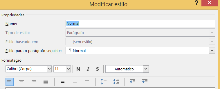 Formato Modificar Estilo do Word
