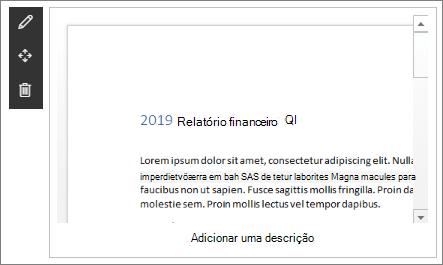Parte web do espectador de ficheiros na amostra moderna do site de desembarque da empresa no SharePoint Online