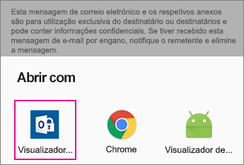 Visualizador da OME com o Gmail no Android 2