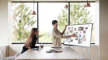 A utilizar o Whiteboard no Surface Hub