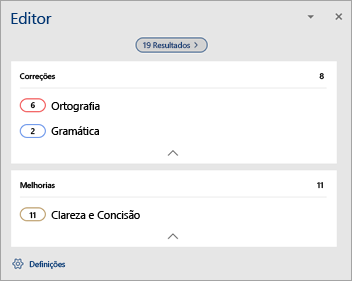 A mostrar o Resumo dos problemas de verificação linguística