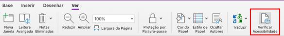 Ferramenta de acessibilidade verificar o OneNote para Mac