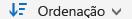 Botão Ordenar do OneDrive para Empresas