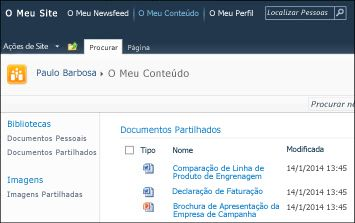 O Meu Site do SharePoint 2010