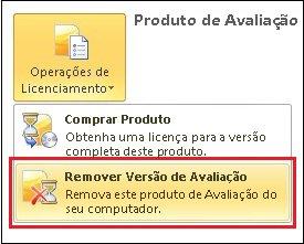 Remover a Versão de Avaliação do Office 2010