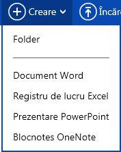 Crearea unui document nou