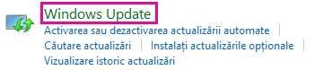 Linkul Windows Update din Panoul de control Windows 8