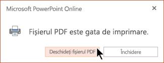 Fișierul PDF este gata