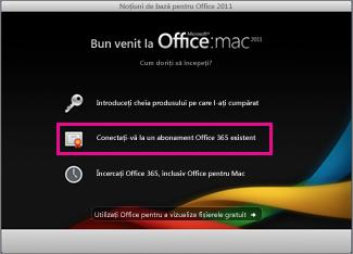 Pagina de instalare de pornire Office pentru Mac