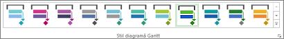 Stiluri diagramă Gantt