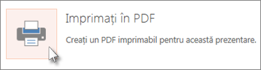 Imprimarea diapozitivelor ca PDF