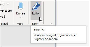 Alegeți editor pe fila pornire sau apăsați F7 pentru a deschide panoul editor.